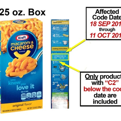 Kraft Macaroni & Cheese Recalled for Possible Metal Pieces