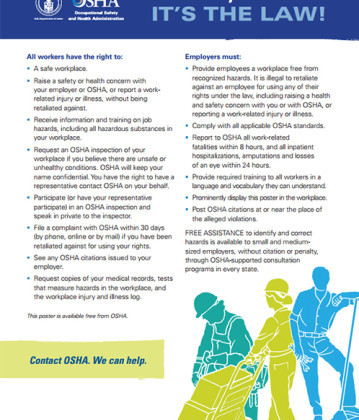 OSHA unveils new version of its required workplace poster